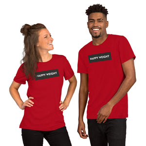 Happy Weight Rectangle Unisex T-Shirt