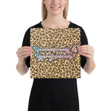 Unconditionally & Unapologetically Cheetah Canvas