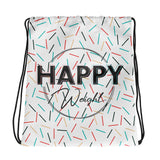 Happy Weight Sprinkles Drawstring Bag