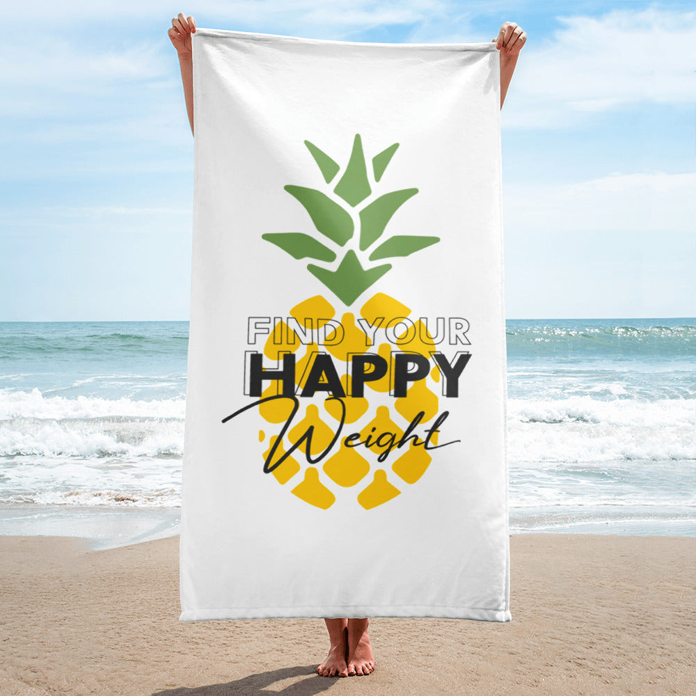 Find Your Happy Weight Pineapple Towel