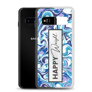 Happy Weight Marble Blue Samsung Case