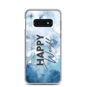 Find Your Happy Weight Watercolor Blue Samsung Case