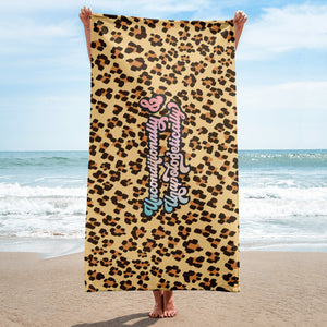 Unconditionally & Unapologetically Cheetah Towel