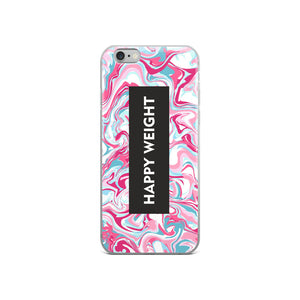 Happy Weight Marble Pink iPhone Case