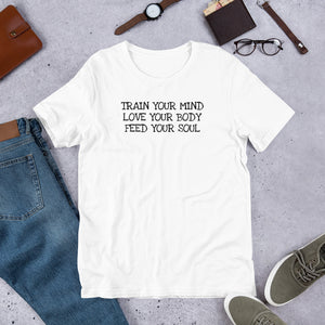 TRAIN LOVE FEED Unisex T-Shirt