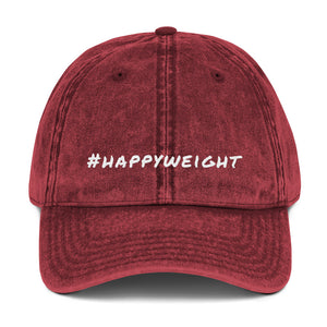 #happyweight Vintage Cotton Twill Cap