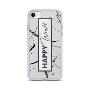 Happy Weight Marble iPhone Case