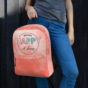 When You're Happy It Shows Backpack