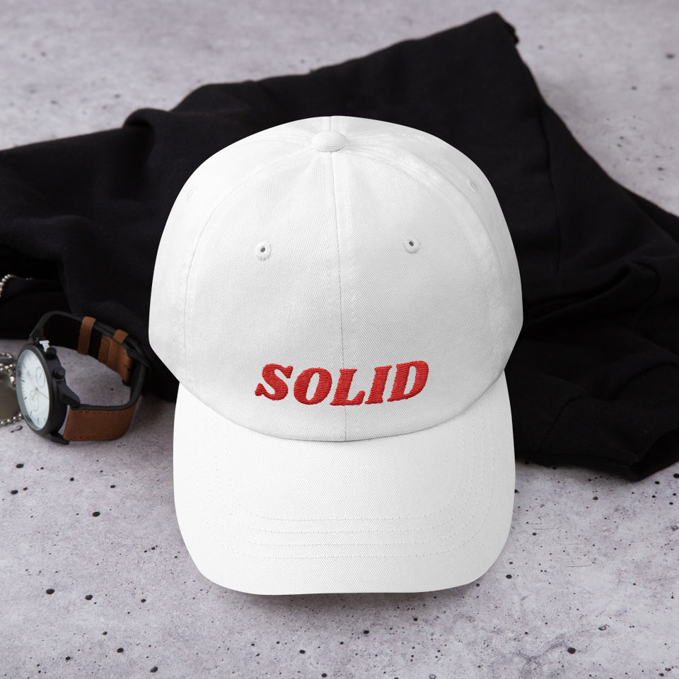 SOLID Dad Hat Red