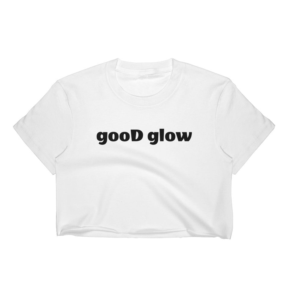gooD glow White Crop Top