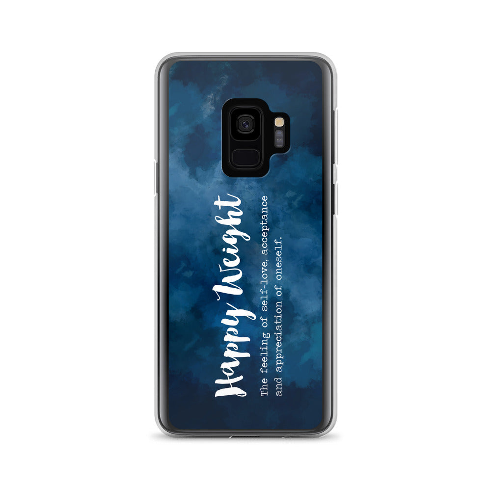 Happy Weight Defined Watercolor Dark Blue Samsung Case