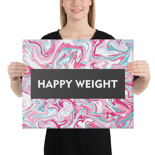 Happy Weight Marble Pink Canvas