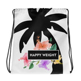 Happy Weight Hibiscus Drawstring Bag