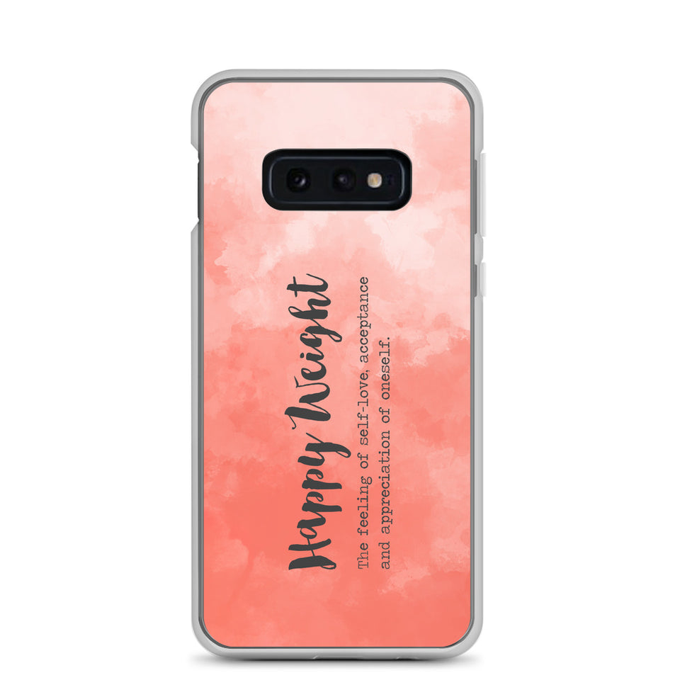 Happy Weight Defined Watercolor Coral Samsung Case