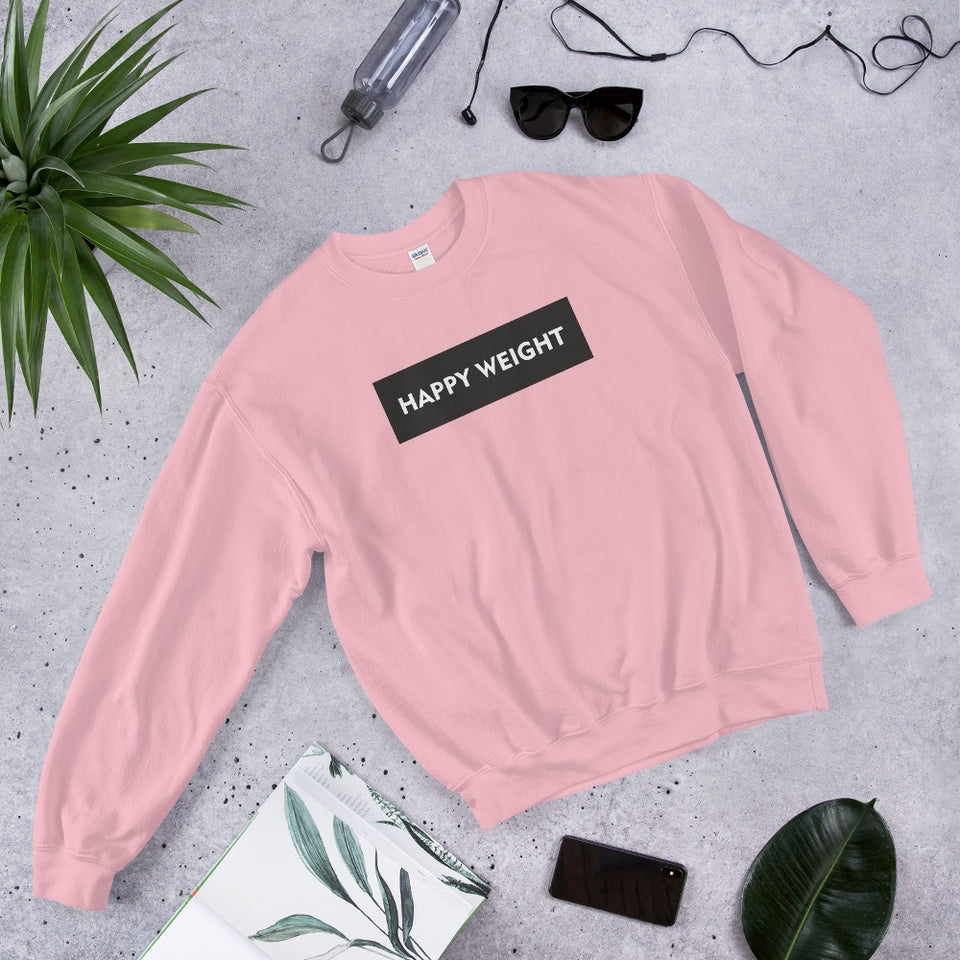 Happy Weight Rectangle Sweatshirt
