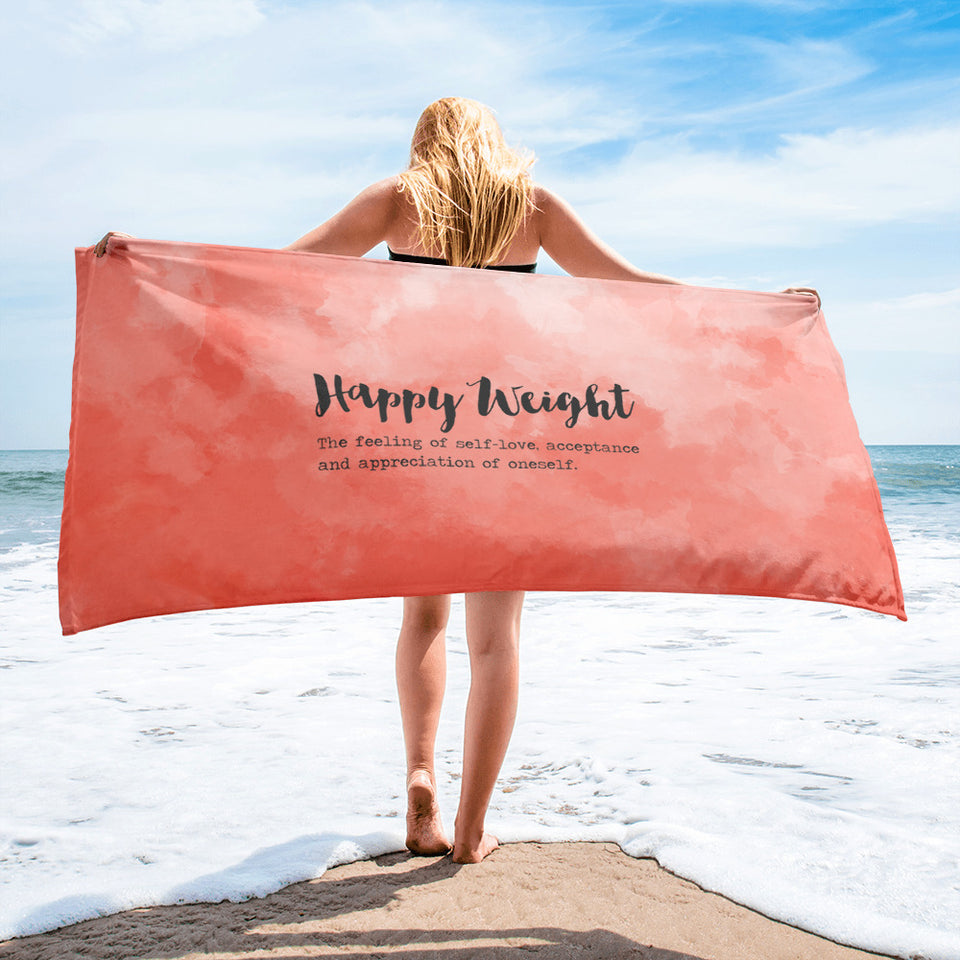 Happy Weight Defined Black-Print Towel
