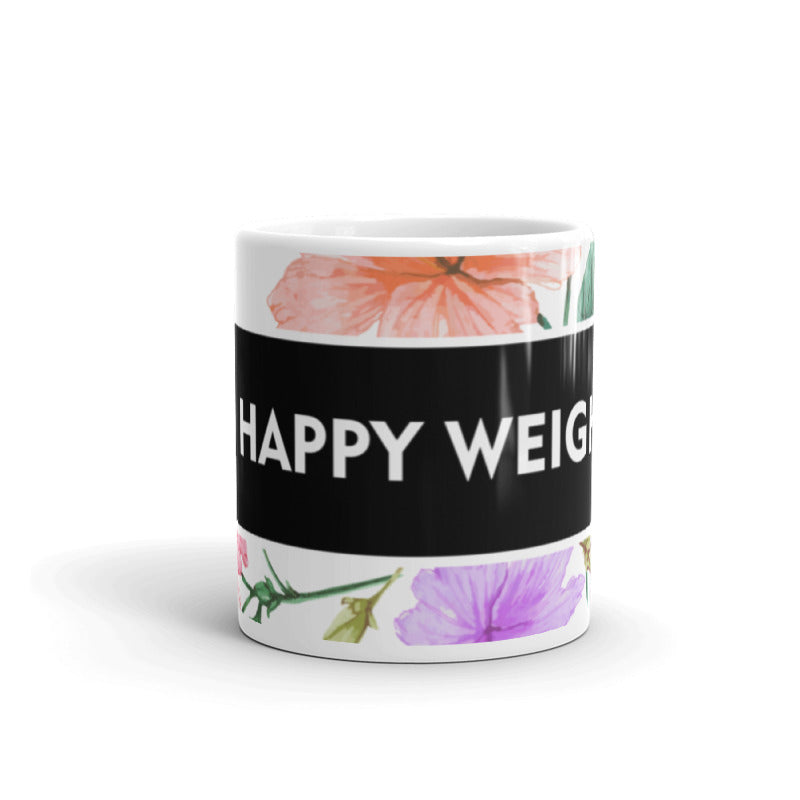Happy Weight Hisbiscus Mug