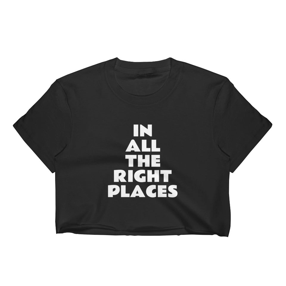 In All The Right Places Black Crop Top