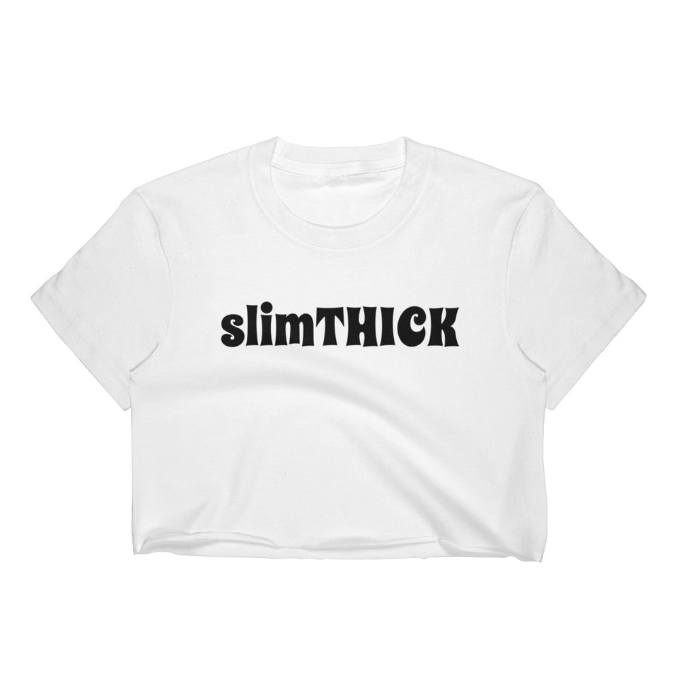 slimTHICK White Cropped T-Shirt