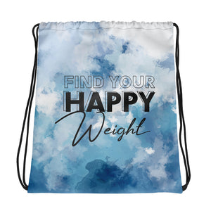 Find Your Happy Weight Drawstring Bag