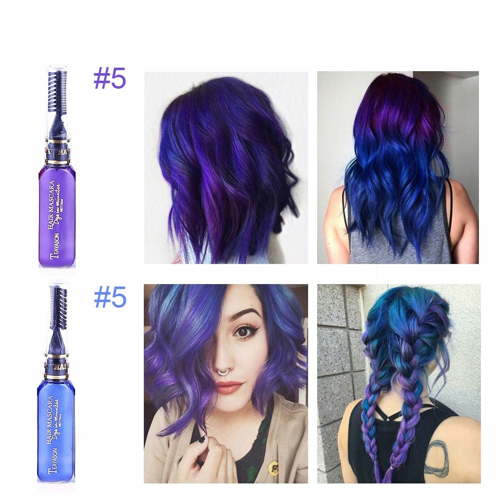 13 Colors One Off Hair Color Dye Temporary Non Toxic Diy Hair Color Mascara Washable One Time Hair Dye Crayons