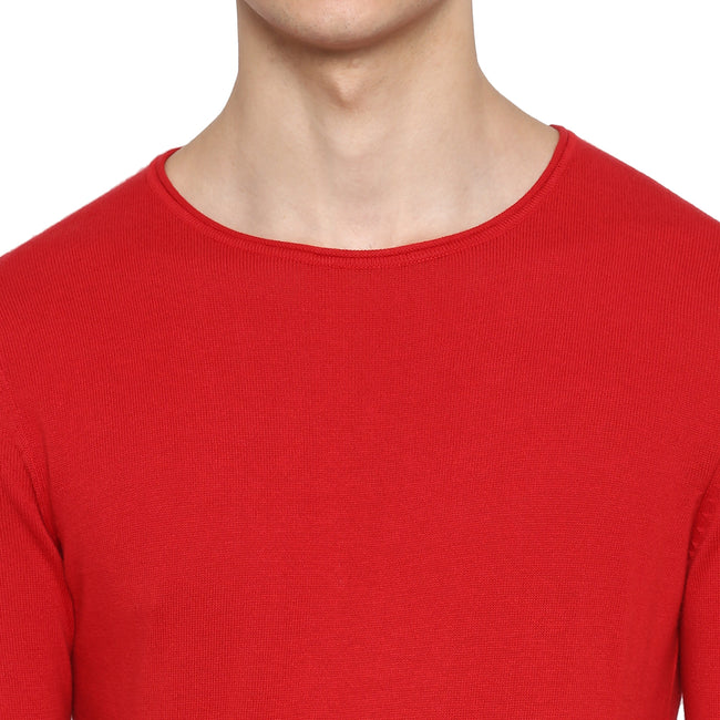 Tom Tailor Plain Sweat Shirt for Men (Salsa Red)