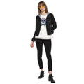 Tom Tailor Women's Leather Black Jacket with Hoodie