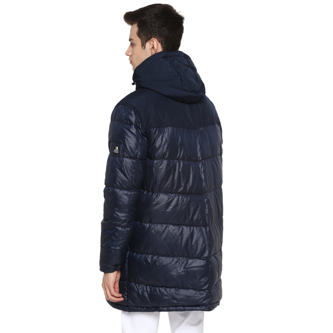 Tom Tailor Long Quilted Jacket with Hooded for Men