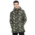 Tom Tailor Men's Camo-Print Jacket with Hoodie