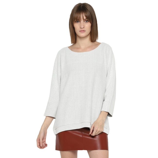 Tom Tailor Women's Casual Sweater with 3/4th Sleeves
