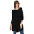 Tom Tailor Women's Long Sweater Loose Fit Boat Neck Winter Dress (Black)