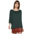 Tom Tailor Women's Relax Fit Sweater Solid Jumper with Boat Neck