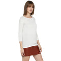 Tom Tailor Women's Sweater Self Jumper with Boat Neck