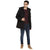 Tom Tailor Hooded Parka Black Jacket for Men