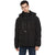 Tom Tailor Men's Puffer Jacket with Hoodie Padded Long Black Jacket