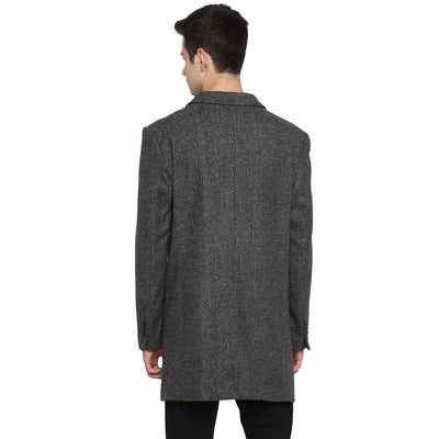 Tom Tailor Men's Single Breasted Long Overcoat for Men