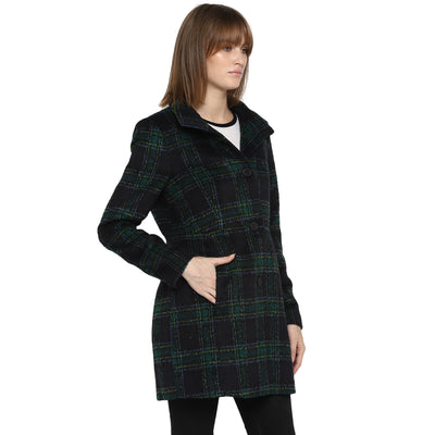 Tom Tailor Women's Winter Overcoat Blazer with Front Pockets