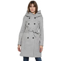 Tom Tailor Women's Long Belted Overcoat Jacket with Hoodie
