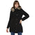 Tom Tailor Parka Jacket with Fur Hooded Coat for Women (Black)