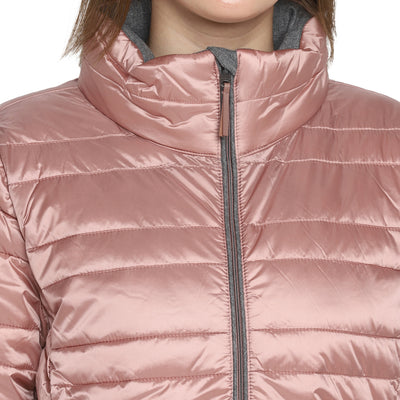 Tom Tailor Winter wear Puffer Jacket For Women (Vintage Rose)