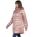 Tom Tailor Women's Puffer Jacket Knee Length Down Coat (Vintage Rose)