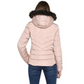 Tom Tailor Quilted Jacket with Furry Hoodie for Women