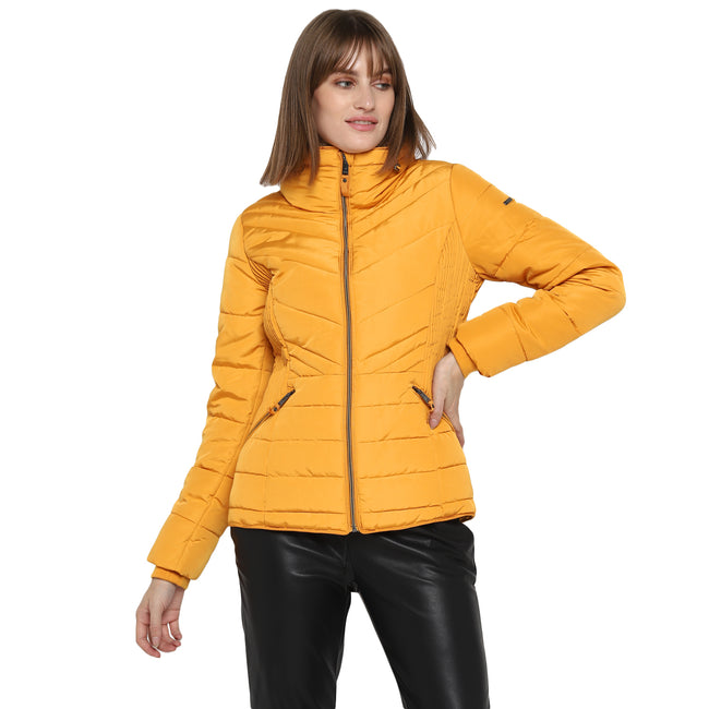 Tom Tailor Quilted Jacket with Furry Collar Women's Puffer Jacket with Hoodie