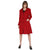 Tom Tailor Full Sleeves Long Coat for Women (Red)