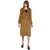 Tom Tailor Lapel Long Coat with Detachable Waist Belt (Brown)