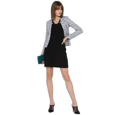 Tom Tailor Formal Slim Fit Blazer for Women (Blue)