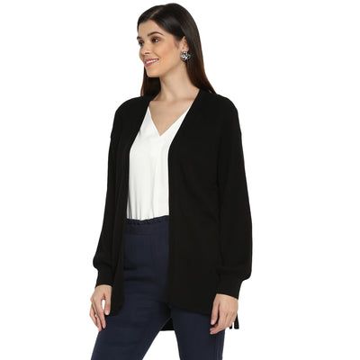 Tom Tailor Cardigan Sweater with Front Open for Women (Black)
