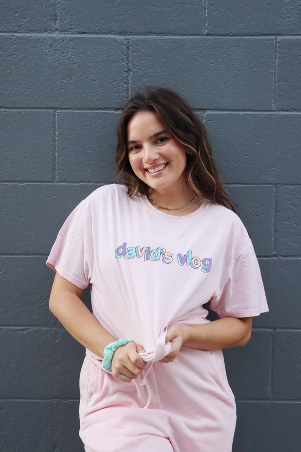 David Dobrik Pink Sunset Shirt