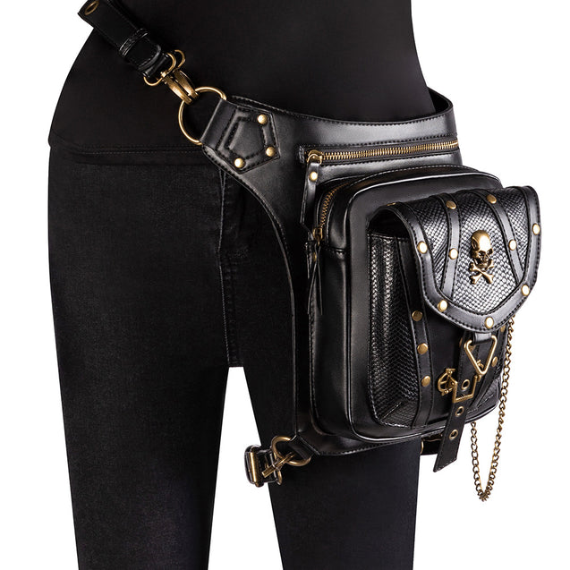 Gothic Steampunk Gold Studs Bag