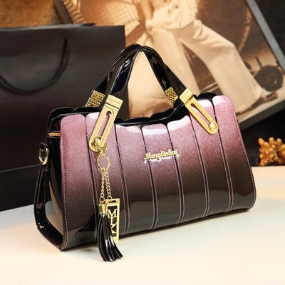 Patent Leather Elegant Women's Handbag